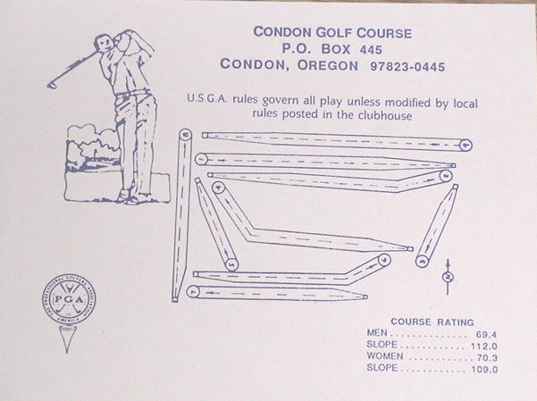 Condon Golf Course Map