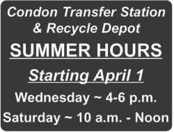 Summer Transfer Hours